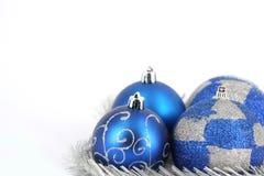 Decoração da esfera do Feliz Natal Foto de Stock Royalty Free