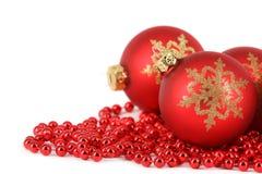 Decoração da esfera do Feliz Natal Fotografia de Stock Royalty Free