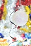 Decoração da esfera do Natal Fotografia de Stock