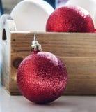Decoração da esfera do Natal Foto de Stock