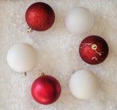 Decoração da esfera do Natal Fotos de Stock Royalty Free