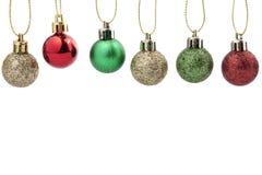 Decoração da esfera do Natal Decoração do feriado no fundo branco Fotos de Stock Royalty Free