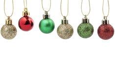 Decoração da esfera do Natal Decoração do feriado no fundo branco Fotografia de Stock