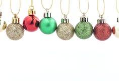 Decoração da esfera do Natal Decoração do feriado no fundo branco Imagem de Stock