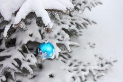 Decoração da esfera do Natal - foto conservada em estoque Foto de Stock