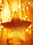 Decoração da estrela da árvore de Natal imagem de stock