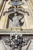 Decoração da fachada de Buda Castle, Budapest, Hungria Foto de Stock Royalty Free