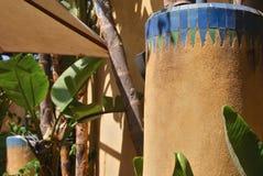 Decoração da fachada em Marrocos, C4marraquexe Imagens de Stock