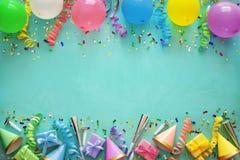 Decoração da festa de anos fotos de stock royalty free