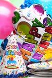 Decoração da festa de anos Fotografia de Stock Royalty Free