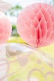 Decoração da festa de anos do jardim Fotos de Stock Royalty Free