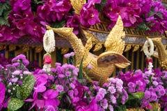 Decoração da flor de Chiang Mai Flower Festival 2018, Tailândia Foto de Stock