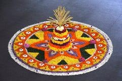 Decoração da flor de Onam Imagens de Stock