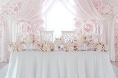 Decoração da flor do casamento fotos de stock
