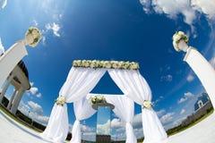 Decoração da flor do casamento Imagens de Stock Royalty Free