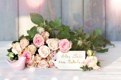 Decoração da flor para o dia de mães Fotografia de Stock Royalty Free