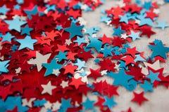 Decoração da forma da estrela com tema do 4 de julho Imagens de Stock
