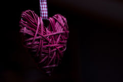 Decoração da forma do coração da árvore de Natal Imagens de Stock