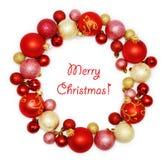 Decoração da grinalda do Natal foto de stock royalty free