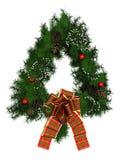 Decoração da grinalda do Natal Fotos de Stock