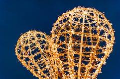 Decoração da iluminação do coração Imagens de Stock Royalty Free
