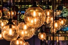 Decoração da iluminação, fim acima com fundo borrado fotografia de stock royalty free