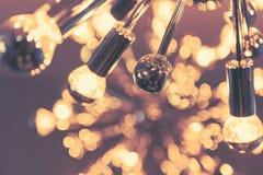 Decoração da iluminação interior com bokeh - imagens de stock royalty free