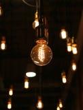 Decoração da iluminação no café fotos de stock