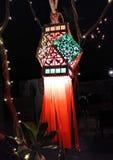 Decoração da lâmpada de rua em Mandrem-Ashvem, Goa, Índia foto de stock royalty free
