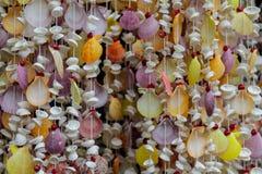 Decoração da lembrança feita de shell coloridos do mar Fotos de Stock Royalty Free