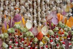 Decoração da lembrança feita de shell coloridos do mar Fotografia de Stock Royalty Free