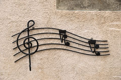 Decoração da música do ferro Fotografia de Stock
