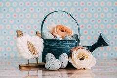 Decoração da Páscoa com cores pastel Foto de Stock Royalty Free