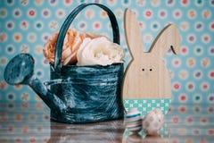 Decoração da Páscoa com cores pastel Fotografia de Stock Royalty Free