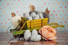 Decoração da Páscoa com cores pastel Imagem de Stock