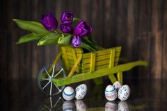 Decoração da Páscoa com cores pastel Imagem de Stock Royalty Free