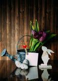 Decoração da Páscoa com cores pastel Imagens de Stock Royalty Free