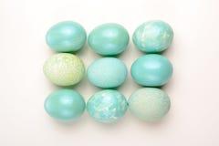 Decoração da Páscoa, ovos de turquesa Imagem de Stock