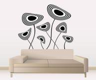Decoração da parede com design floral Imagens de Stock