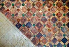 Decoração da parede das telhas cerâmicas do vintage fotografia de stock