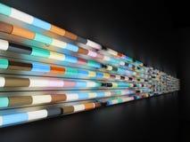 Decoração da parede da lâmpada fluorescente Fotos de Stock Royalty Free