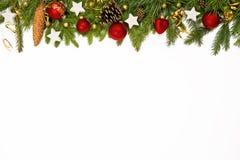 Decoração da parte superior do Natal Imagens de Stock Royalty Free