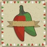 Decoração da pimenta de pimentão Fotos de Stock Royalty Free