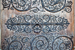 Decoração da porta de entrada de Notre Dame Foto de Stock Royalty Free