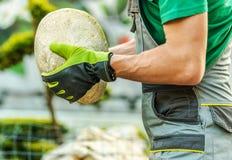 Decoração da rocha do jardim Imagem de Stock Royalty Free
