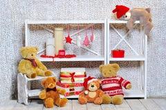 Decoração da sala do Natal imagem de stock royalty free