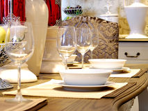 Decoração da tabela de Dinning Imagem de Stock