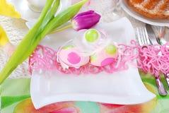 Decoração da tabela de Easter Imagens de Stock