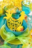 Decoração da tabela de Easter foto de stock