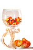 Decoração da tabela de Halloween fotos de stock royalty free